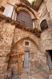 Picture of Picture of a cross at the Via Dolorosa