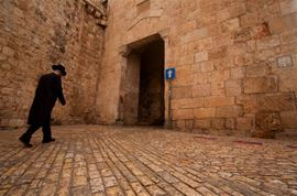 Picture of Picture of a men at the Zion Gate