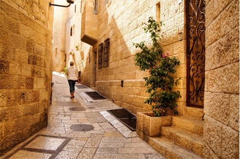 "Picture of Picture of ""Or chaim"" street in the Jewish Quarter"