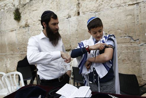 Picture of Picture of a boy at a Bar Mitzvah ceremony