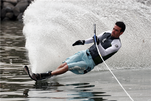 Picture of Picture of a man water skiing
