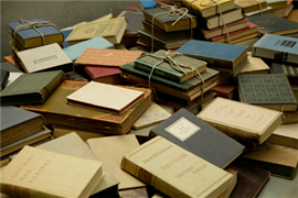 Picture of Picture of a collection of books in the from Yad Vashem