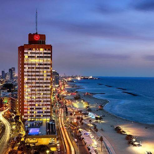 חזית מלון שרתון תל אביב - Front of Sheraton Tel Aviv Hotel