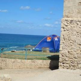 אוהל בחניון לילה אכזיב - Tent in campsite Achziv