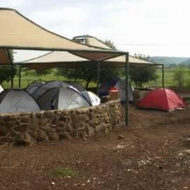 אוהלים בחניון לילה יהודיה - Tents in campsite Yehudia