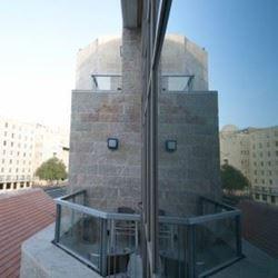 """אכסניית אנ""""א ירושלים - אגרון - מרפסת נוף"""