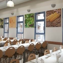 "אכסניית אנ""א בית שאן - חדר אוכל - ANA Hostel Beit Shean - Dining room"