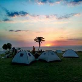 אוהלים בחניון לילה אשקלון - Tents in campsite Ashkelon