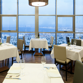 חדר אוכל - קראון פלזה - Dining Room - Crown Plaza Hotel