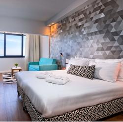 מלון פרימה תל אביב - חדר שינה - Prima Tel Aviv Hotel - Bedroom