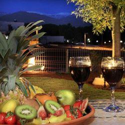 צימר אצל ננו - פינוקים של יין ופירות - Etzel Nano Zimmer - Wine and fruit treats