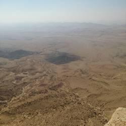 מכתש רמון  מהאוויר - Ramon Crater from air