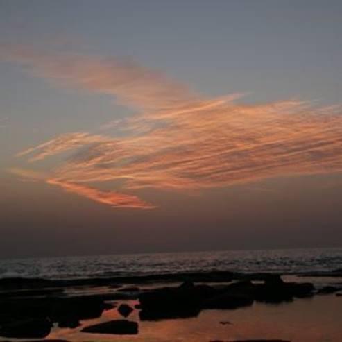 השמיים והים בחוף שבי ציון - The sky and the sea at Shavei Tzion