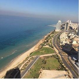 נוף חוף ים נתניה - View of Netanya beach