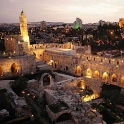 מגדל דוד מלמעלה