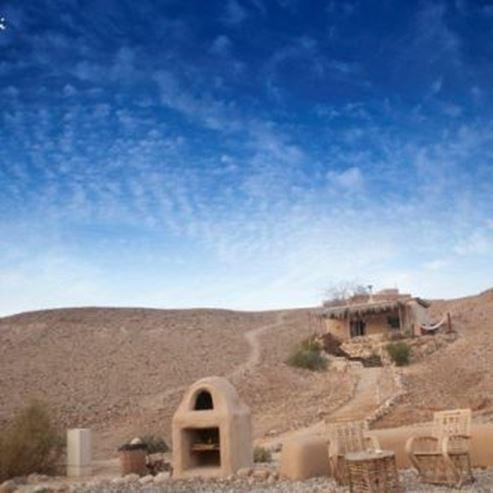 מדברא - בקתת אבן על גבעה - Midbara - stone hut on hill