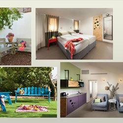 חדרים וגינה באכסניית קשת יהונתן - Rooms and garden in Keshet Yehonatan hostel