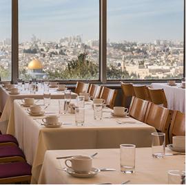 מלון שבע הקשתות - חדר אוכל - Seven Arches Hotel - Dining room