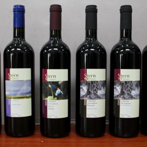 סדרת יינות של יקב שטרן - A series of wines from the Stern Winery