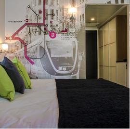 מלון אייל - חדר שינה - Eyal Hotel - Bedroom