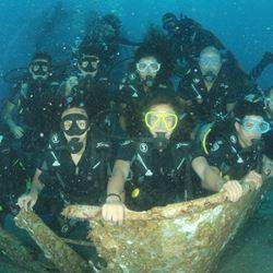 קבוצת צוללנים במים