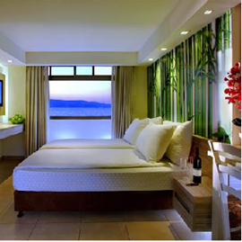 מלון עין גב- חדר שינה - Ein Gev Hotel - Bedroom