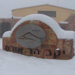 הכניסה ליקב בשלג - Entrance to winery in the snow
