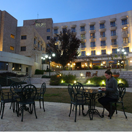 חזית מלון כנען ספא - Front of Kna'an Spa Hotel