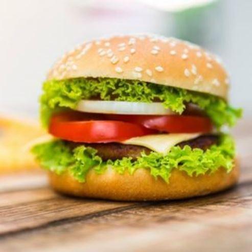 תמונה של המבורגר - A picture of a hamburger