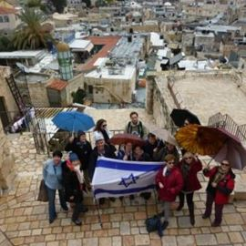 מסיירים במהלך הסיור בירושלים - Touring during the tour in Jerusalem
