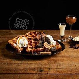 וופל בלגי של קפה קפה  - Cafe Cafe's Belgian Waffle