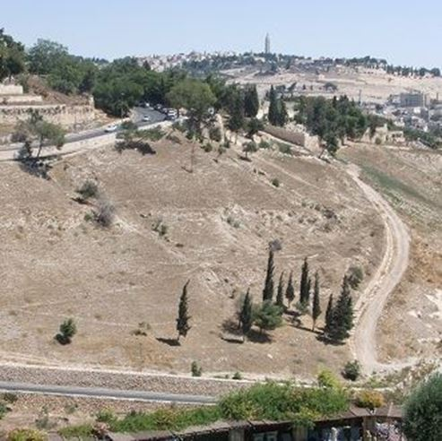 הר הזיתים - Mount Olives from above