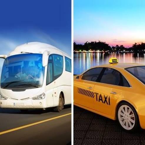מונית ואוטובוס - Taxi and a bus