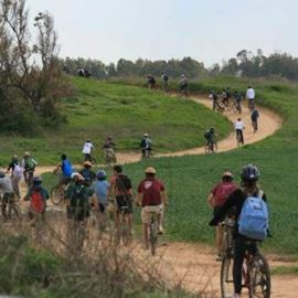 רוכבי אופניים בטבע - Cyclists in nature