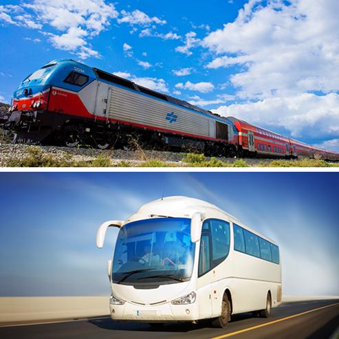 אוטובוס, רכבת - Bus, Train
