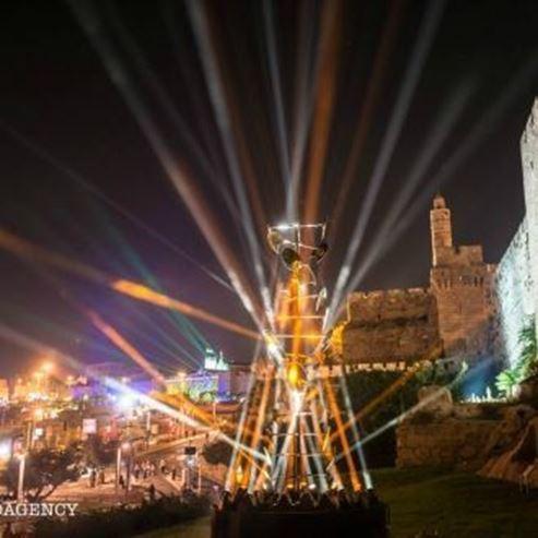 תמונה של פסטיבל האורות בירושלים