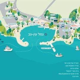 תיירות עין גב- נמל עין גב - Ein Gev Tourism- Ein Gev Port