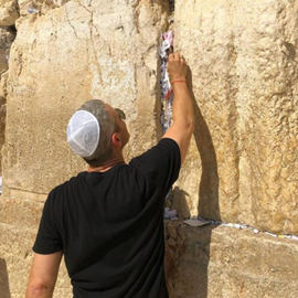 Picture of Mazal Of The Day: Bravo's Andy Cohen At The Western Wall Today In Jerusalem, Israel