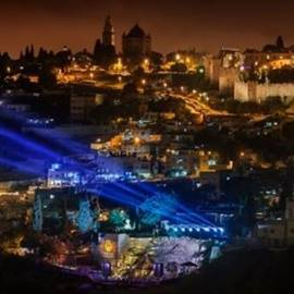 מופע לילי בעיר דוד – Nighttime Presentation in the City Of David