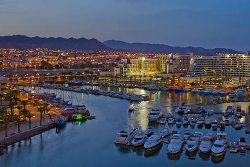 Eilat Marina at Night