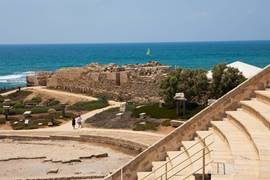 Caesarea Amphitheater Sea