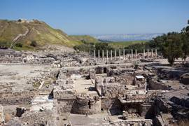 View of The National Park in Beit Shean
