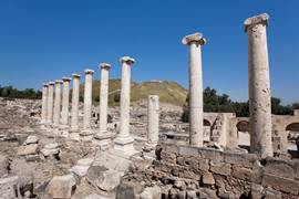 The Roman Cardo in Beit Shean National Park
