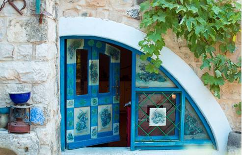 Entrance To an Art Gallery in Safed - Galilee