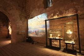 Archaeological display in the Knight's Halls