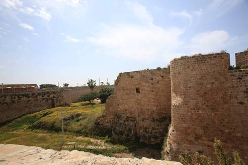 The eastern moat in Acre