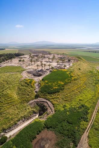 Tel Megiddo - Vertical Aerial View
