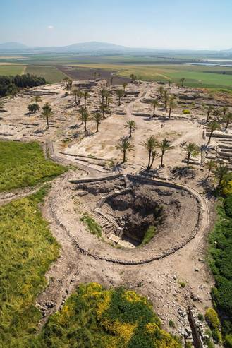 Aerial View of Tel Megiddo