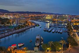 Eilat Marina in the Evening