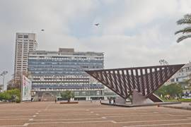 Rabin Square with the Municipality in the background, Tel Aviv